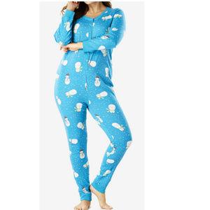 Snowman plussize onesie Pajama union suit 5X 95q3*